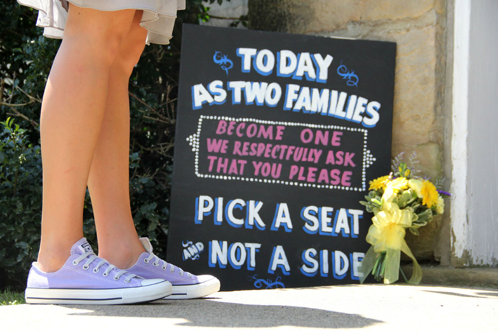 Wedding Sign Pick a seat and not a side