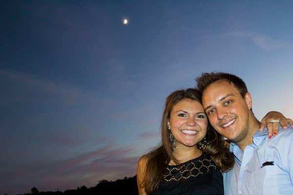 Photo of Couple at Wedding Reception