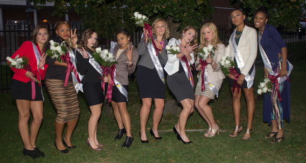 High School Homecoming Photo of a Group of Girls Having Fun