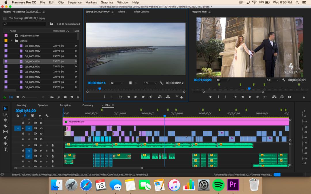 Wedding Editing Process
